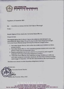 Ribuan Mahasiswa Ikuti Aksi Gejayan Memanggil Meski 'Digembosi' Rektorat