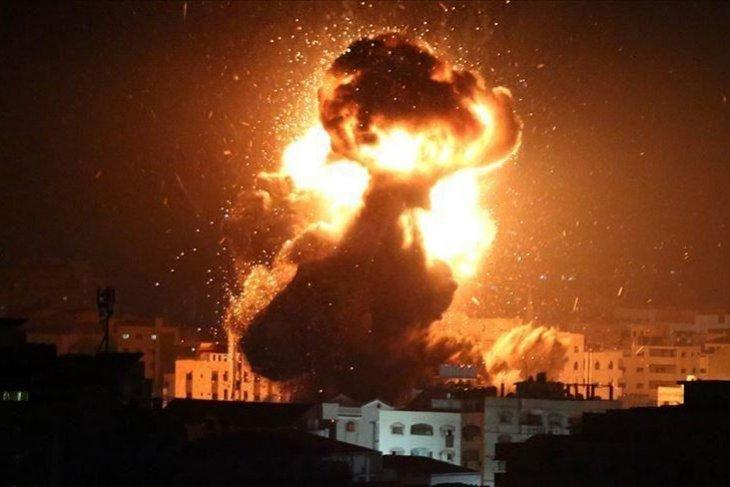 10 Warga Gaza Termasuk Komandan Brigade Al-Quds Gugur oleh Serangan Udara Israel