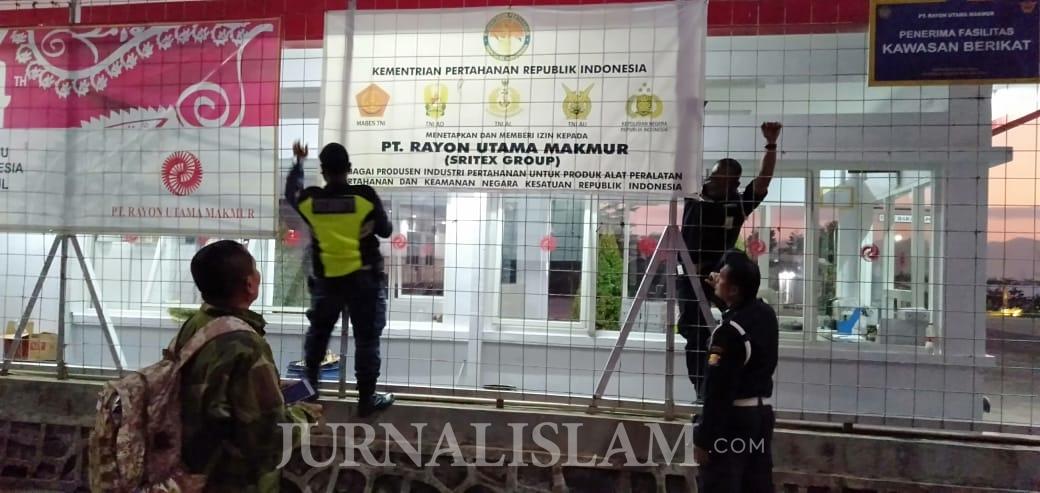 Resahkan Warga, Spanduk PT RUM yang Catut Institusi TNI Dicopot