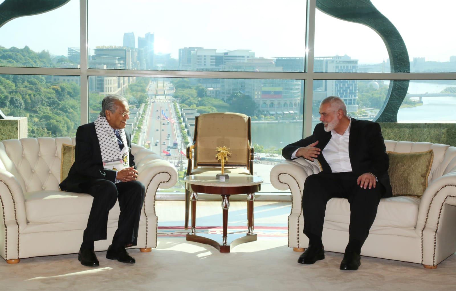Pemimpin Hamas Temui Perdana Menteri Malaysia Mahathir Mohamad