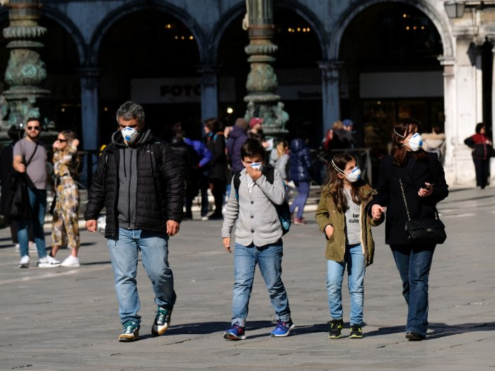 Tekan Penyebaran Virus Corona, Seluruh Italia Ditetapkan Sebagai 'Zona Merah'