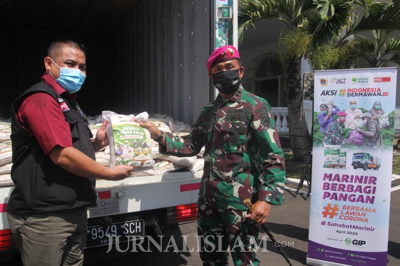 Kolaborasi ACT dan Marinir TNI AL Siap Distribusikan 6 Ton Beras