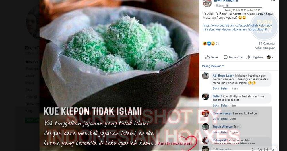 Pola Hoaks 'Klepon Islami', Diposting, Diramaikan, Dihapus