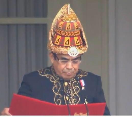 Doa Menag saat Upacara HUT ke-75 Kemerdekaan RI di Istana Negara