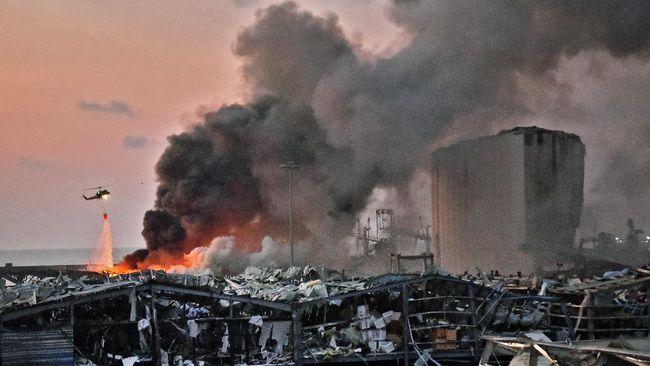 Investigasi Awal Ledakan Beirut: 2750 Ton Amonium Nitrat Terbengkalai