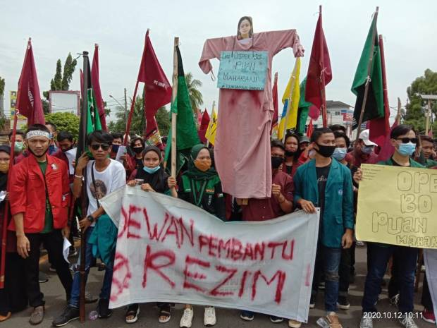 Demo Terus Berlanjut, Ribuan Mahasiswa Lampung Tolak UU Ciptaker