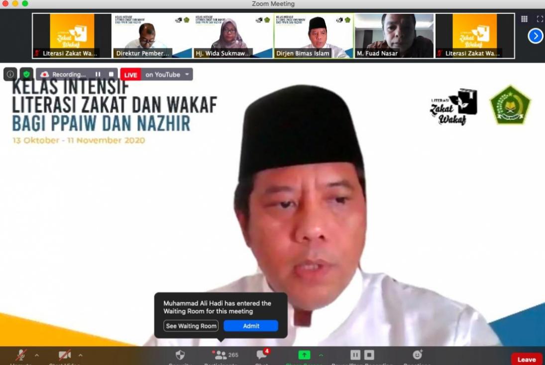 Ribuan Nazhir Ikuti Kelas Daring Literasi Wakaf